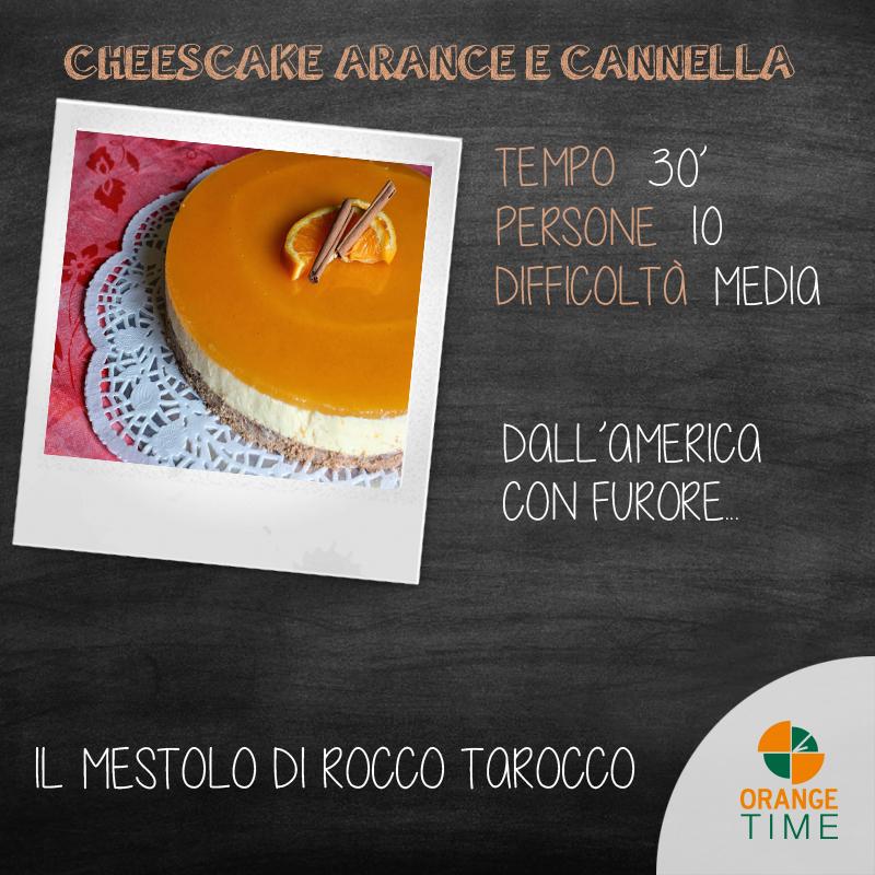 Cheesecake con arance e cannella