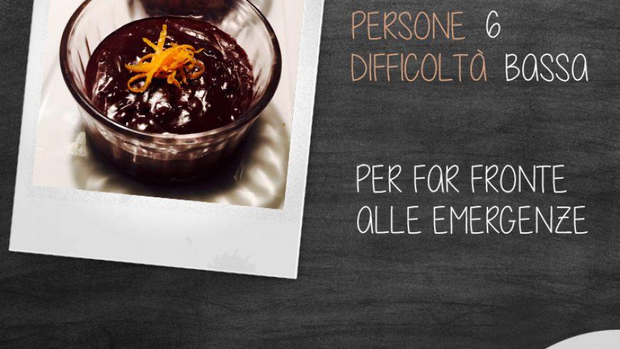 Crema di cioccolato e arancia aromatizzata al rum